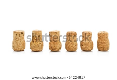 corks isolated on white background - stock photo