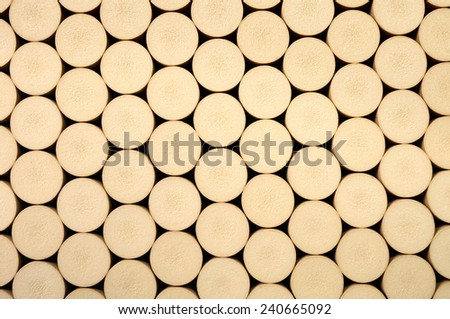 Corks Side By Side for your Background - stock photo