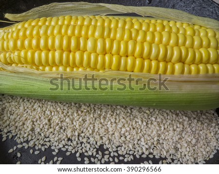 corn and sesame