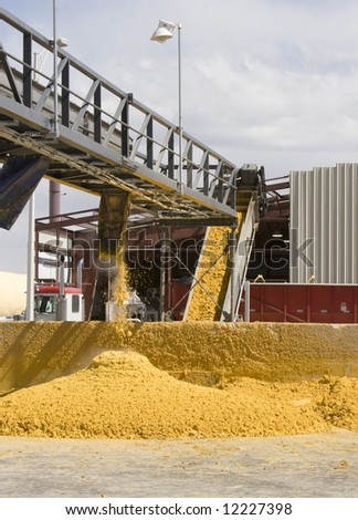Corn Byproduct produced by Ethanol fermentation process - stock photo