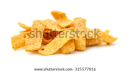 corn chips isolated
