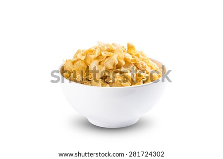 Corn Flakes Healthy Breakfast - stock photo