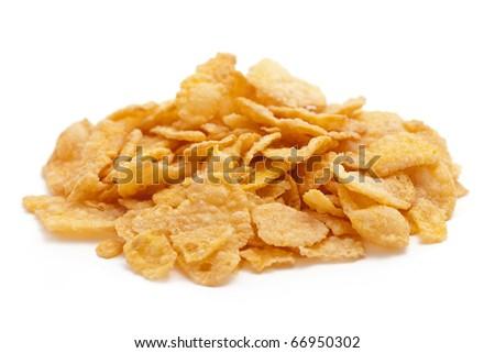 corn flakes isolated - stock photo