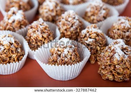 Corn Flakes Sweet Dessert - stock photo
