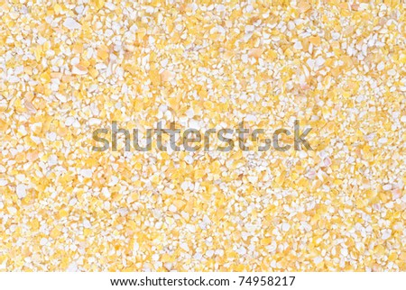 Corn Grits  as  food  background - stock photo