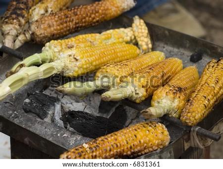 Corn in a Market in Chiapas Mexico - stock photo