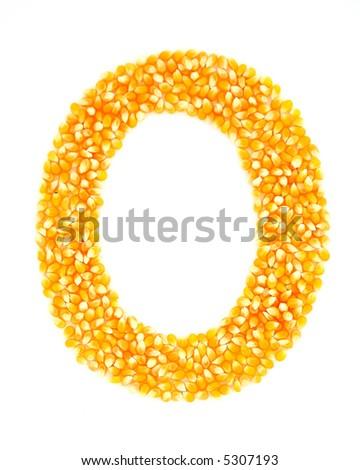 Corn O - stock photo