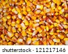 Corn seed grain texture, agriculture background image. - stock photo