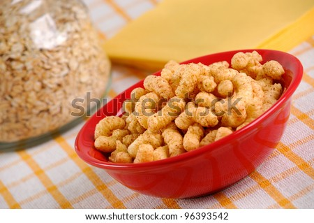 Corn Snack Decoration Stock Photo (100% Legal Protection) 96393542 ...
