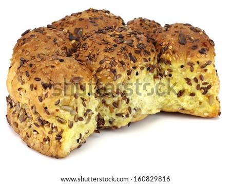 Cornbread on a white background - stock photo