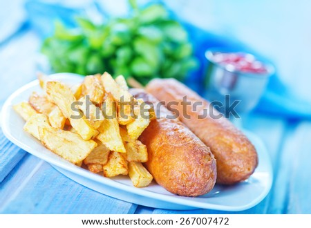 corndogs - stock photo