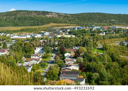 Corner Brook, Newfoundland - residential and industrial zones