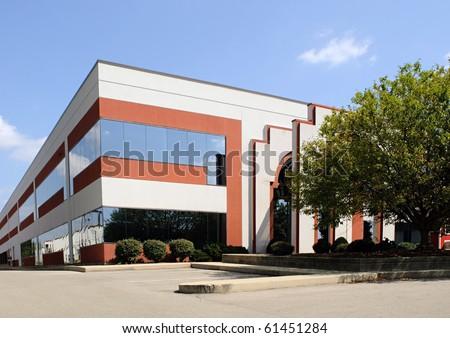Corner Business Building - stock photo