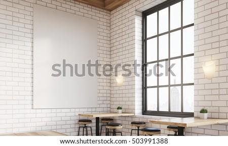 Corner Bar Window Stools Square Tables Stock Illustration 503991388 ...