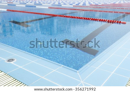 corner of empty swimming pool - stock photo