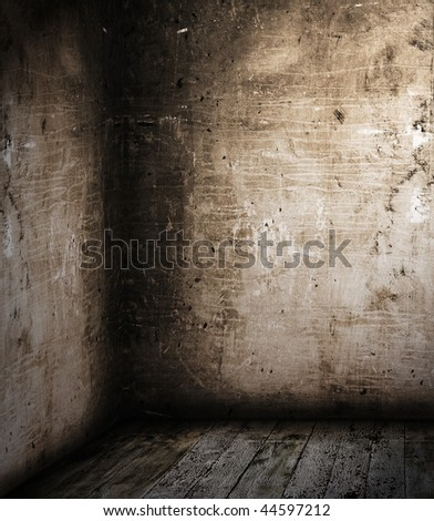 corner of old room - stock photo