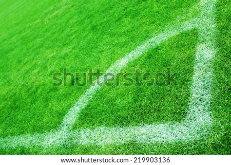 Corner of Soccer Field - stock photo