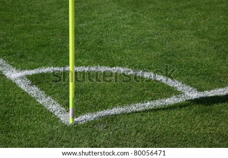 Corner of soccer pitch detail