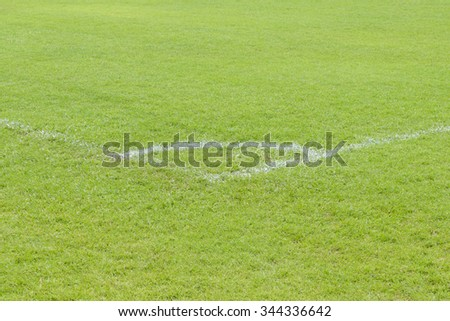 Corner of the football or soccer field
