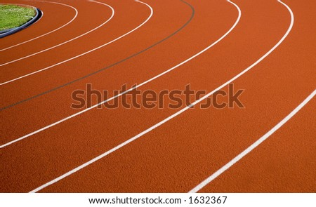 Corner 3 on the race track. - stock photo