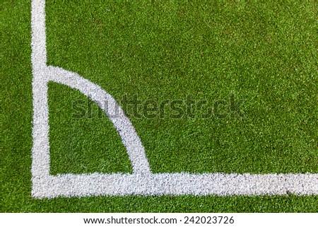 Corner on the soccer field  - stock photo