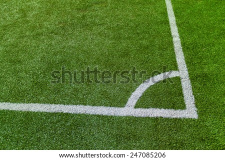 Corner on the soccer field