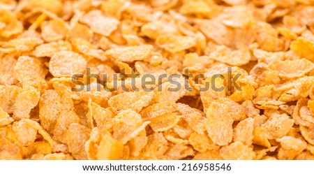 Cornflakes (close-up shot) for use as background image or as texture