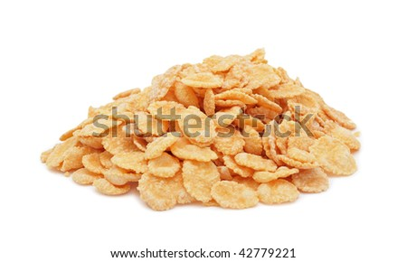 Cornflakes, isolated on a white background
