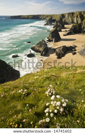 Cornish coastline - stock photo