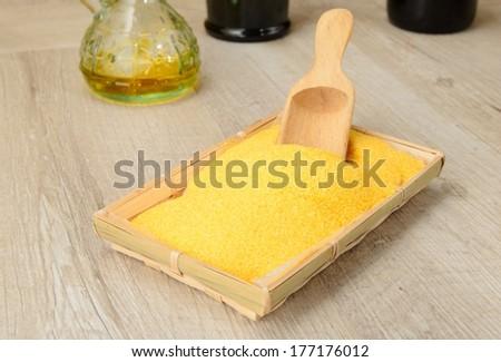 cornmeal - stock photo