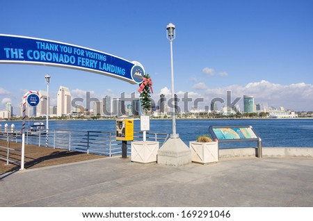 Coronado island on a sunny day,San Diego - stock photo