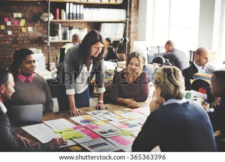 Corporate Achievement Teamwork Office Concept - stock photo