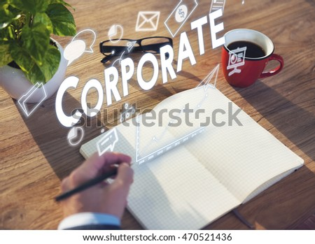 Corporate Business Organization Network Group Concept