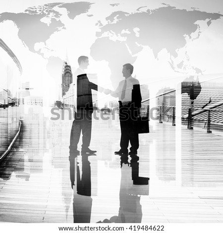 Corporate Business People Meeting Agreement Handshake Concept - stock photo