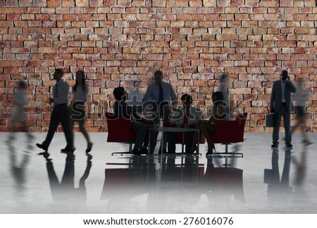 Corporate Business Team Discussion Collaboration Concept - stock photo