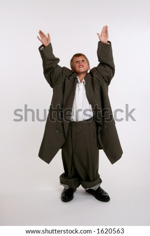 corporate CEO celebrates acquisition victory - stock photo