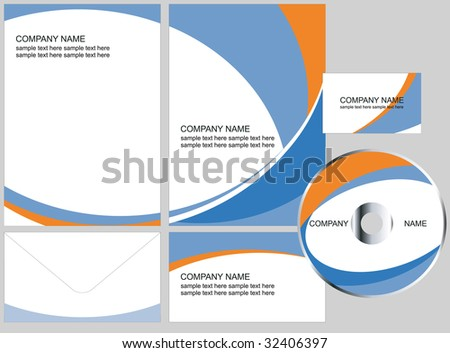 corporate design elements (look for vector version in my portfolio) - stock photo