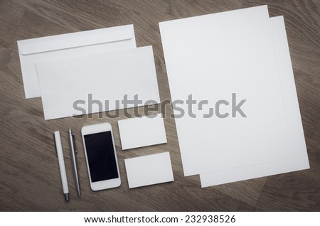 Corporate identity stationary design template - stock photo