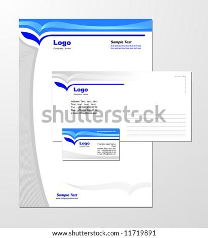 Corporate Identity Template Vector 3 - stock photo