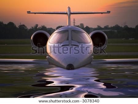 Corporate Jet 2 - stock photo