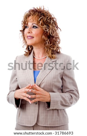 Corporate lady looking away - stock photo