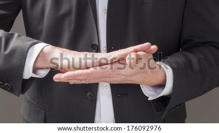 corporate man hands explaining business strategy