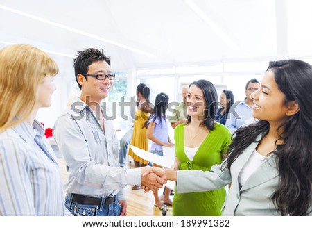 Corporate People Having a Business Agreement - stock photo