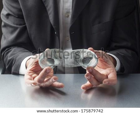 corporate stress management - stock photo