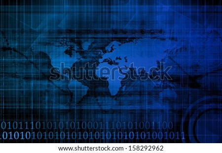 Corporate Technology Industry and Startup as Art - stock photo