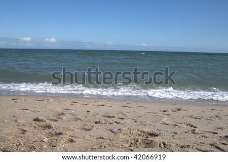 Corpus Christi Beach - stock photo
