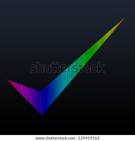 correct abstract color symbol on abstract background - stock photo