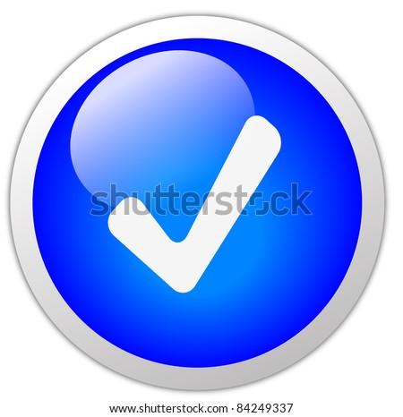 Correct Icon Button - stock photo