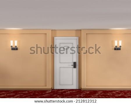 corridor hotel - stock photo