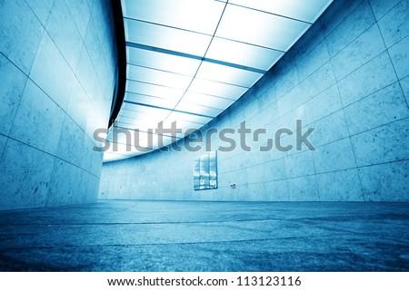 corridor in modern office building - stock photo